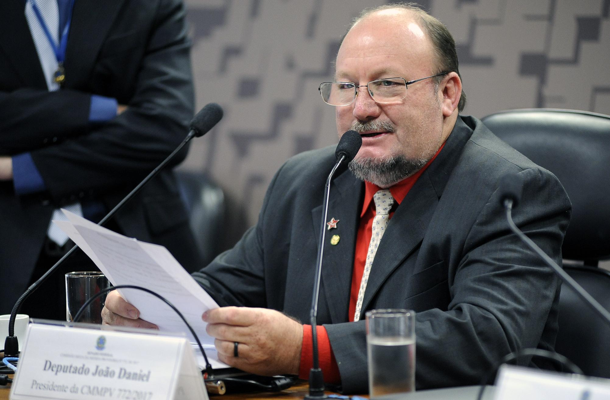 Comissão Mista sobre a MP 772/17, que dispõe sobre a inspeção sanitária e industrial dos produtos de origem animal. Dep. João Daniel (PT - SE)