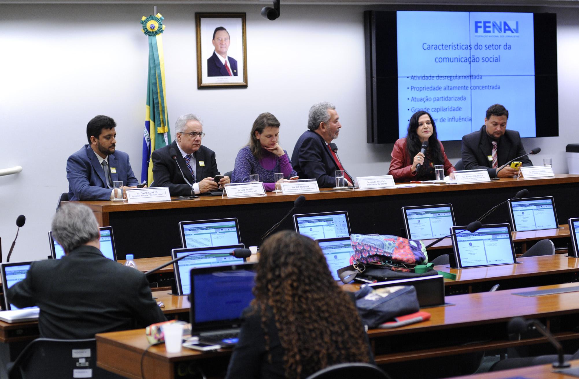 Audiência pública sobre a situação do exercício do jornalismo e as perspectivas do direito à livre comunicação e expressão no País