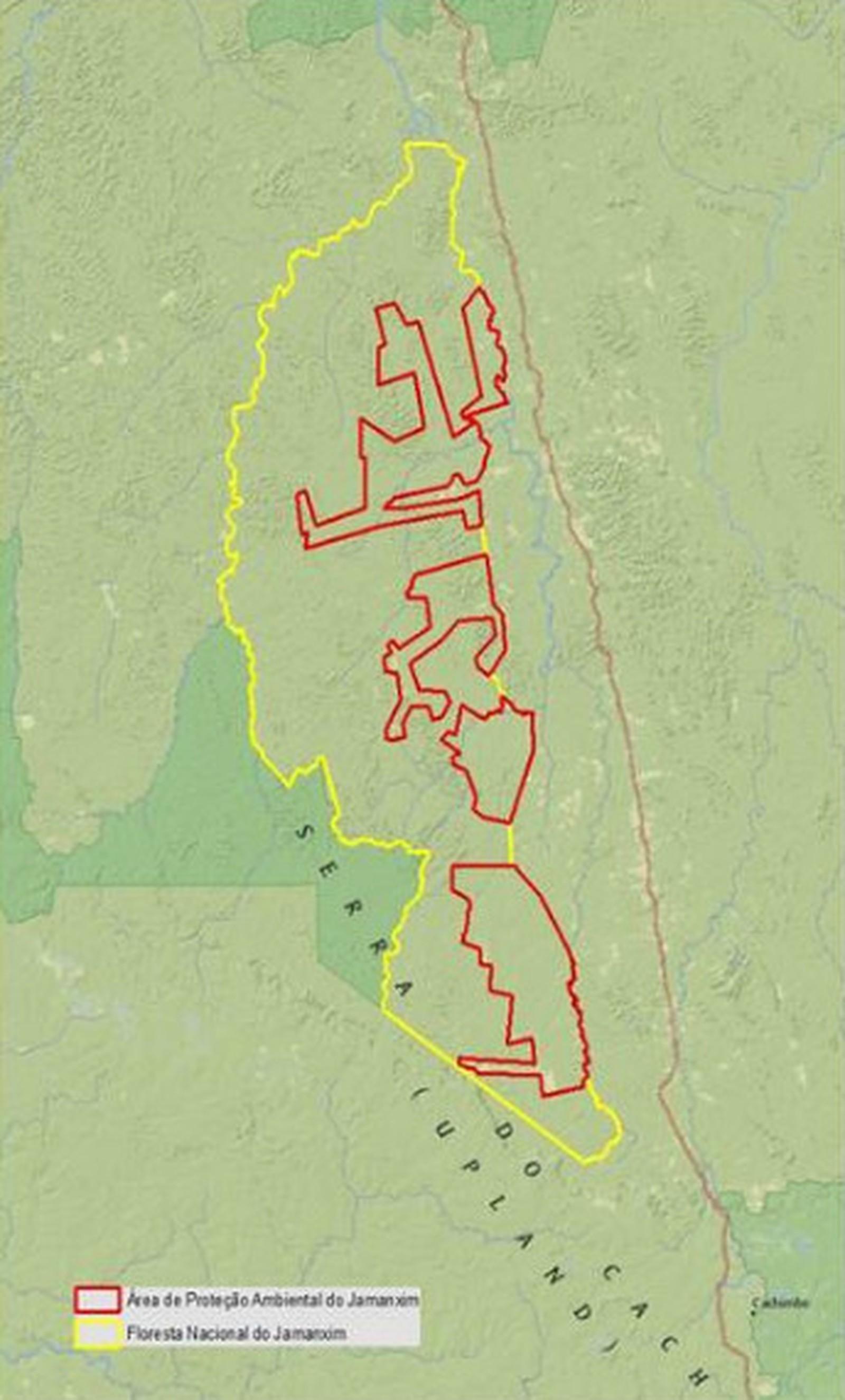Mapa Jamanxim