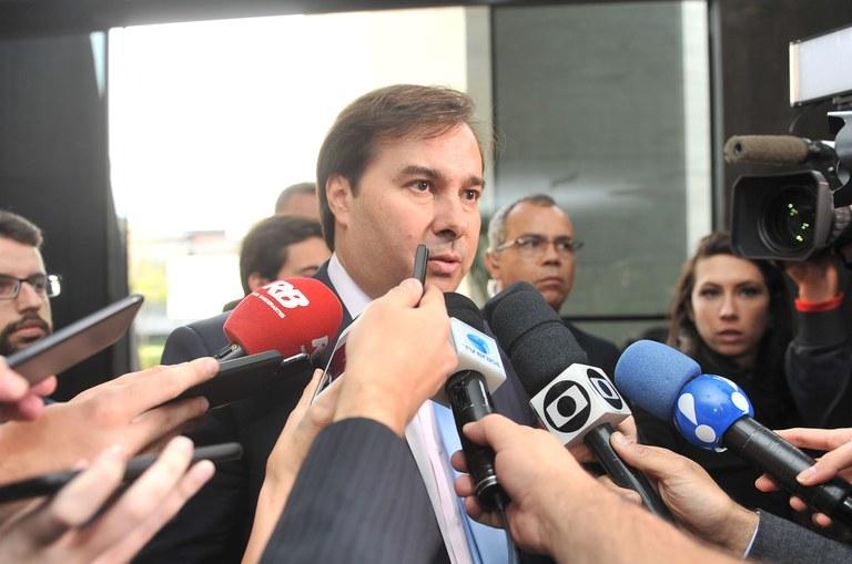Presidente da Câmara, Rodrigo Maia, em entrevista