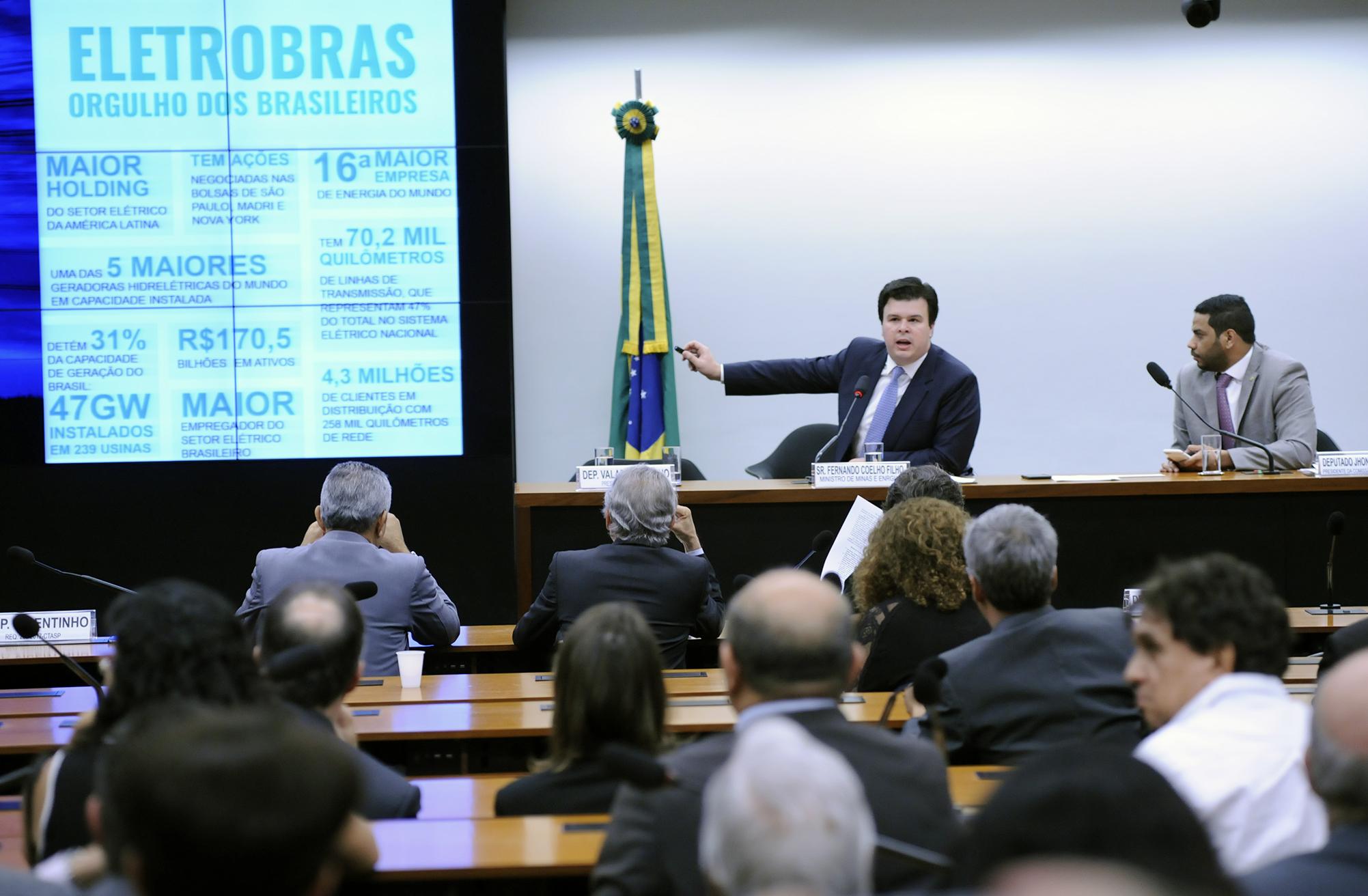 Audiência pública para conceder esclarecimentos acerca da privatização da Eletrobrás e da extinção da Reserva Nacional do Cobre e seus Asssociados - Renca. Ministro de Minas e Energia, Fernando Coelho Filho