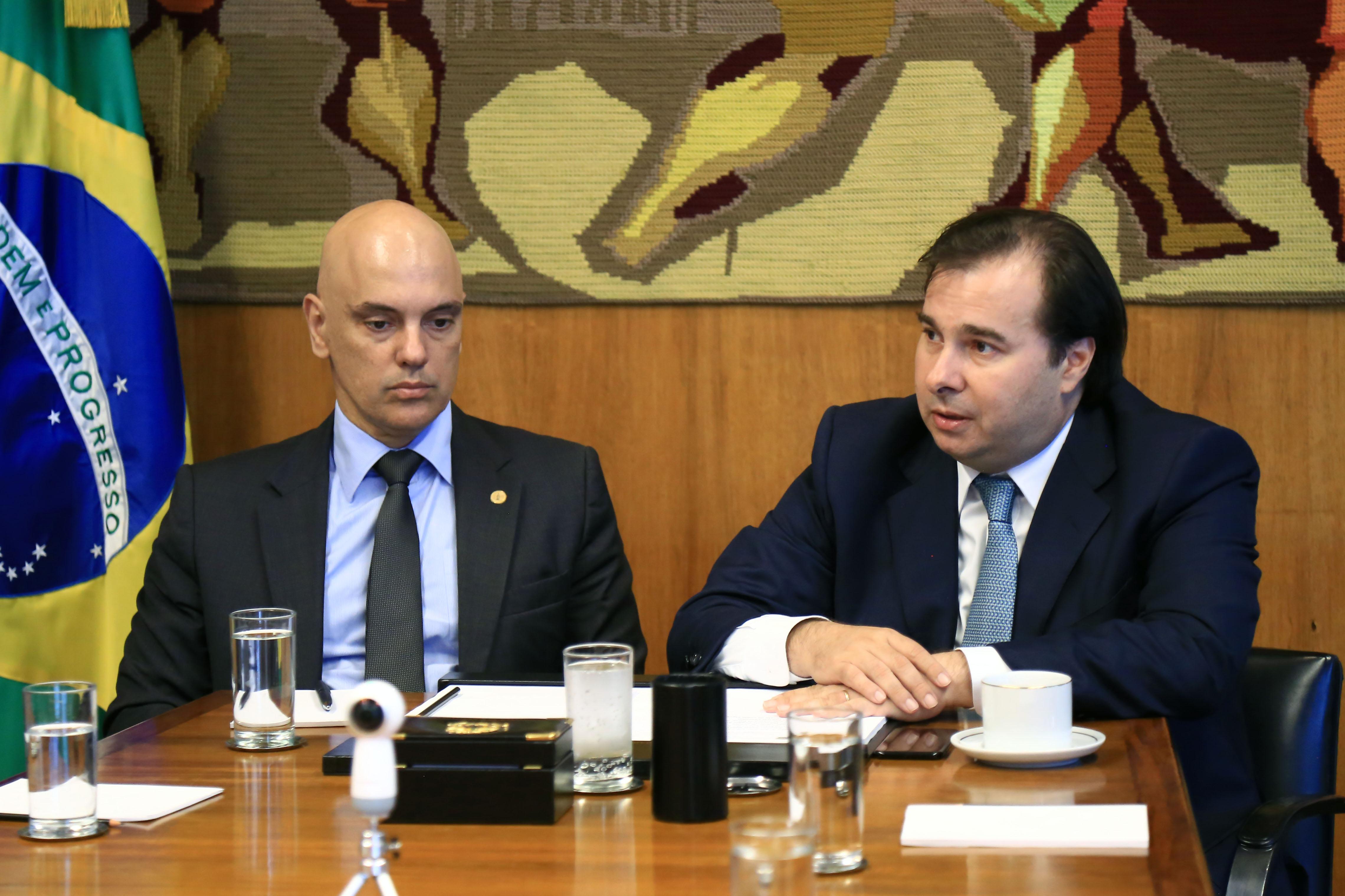 Reunião com o Ministro do Supremo Tribunal Federal, Alexandre de Moraes. Presidente da Câmara, dep. Rodrigo Maia (DEM-RJ)