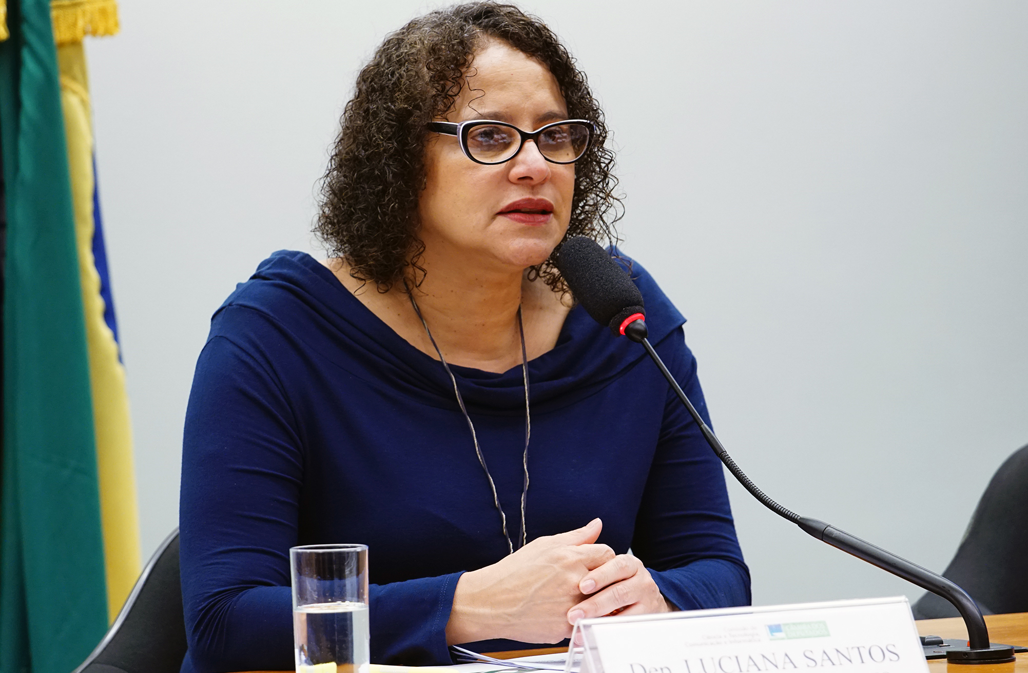 Audiência pública para Debate sobre medidas decorrentes do painel da Organização Mundial do Comércio (OMC) relativo às disputas nºs 472 e 479, que condenou políticas industriais e tecnológicas brasileiras. Dep. Luciana Santos (PCdoB - PE)