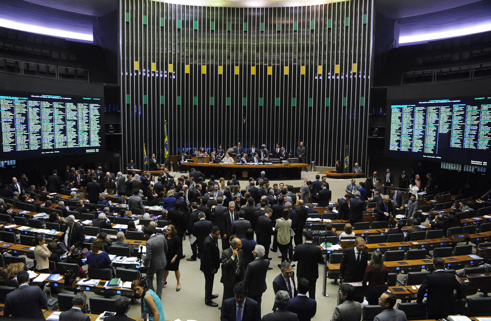 Sessão do Congresso Nacional para votação do orçamento de 2018