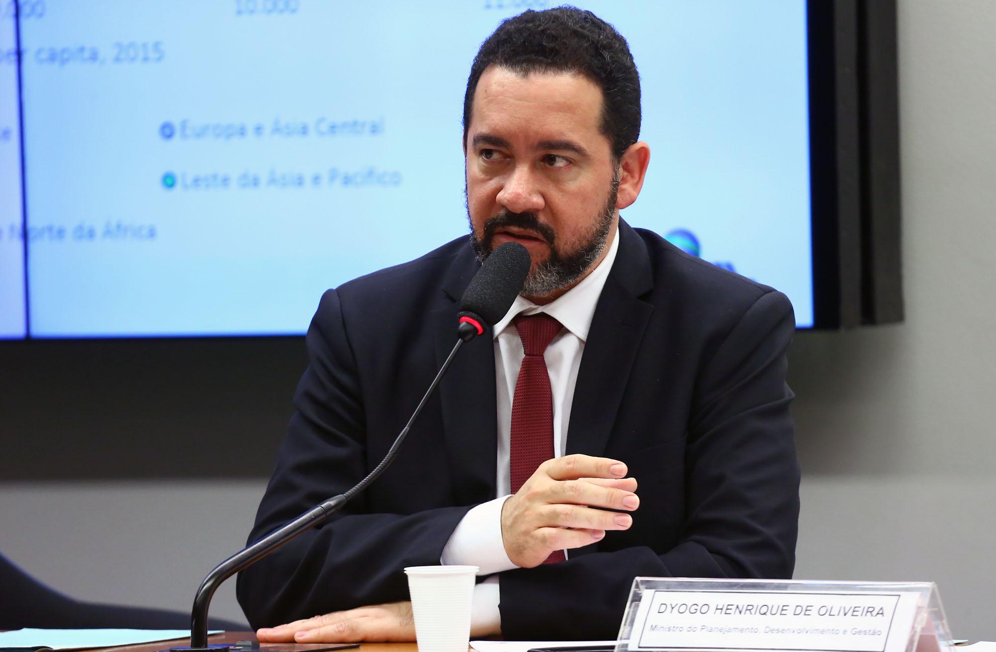 Audiência Pública e Reunião Ordinária. Ministro do Planejamento, Desenvolvimento e Gestão, DYOGO HENRIQUE DE OLIVEIRA