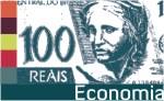 Vinheta Economia com cédula de real