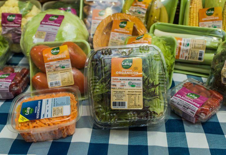 Alimentos - orgânicos hortifrutigranjeiros embalagens plástico