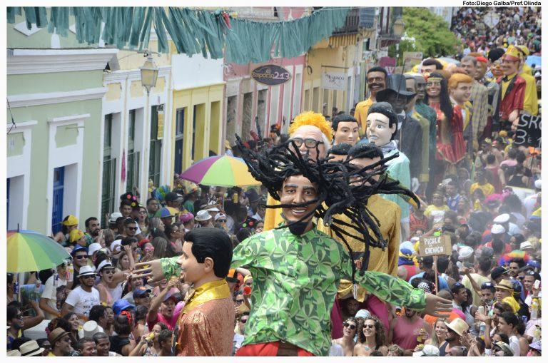 Cultura - popular - carnaval Olinda Recife Pernambuco bonecos gigantes folia mamulengos