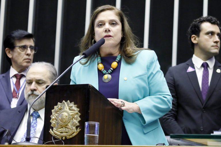 Sessão de inauguração da 2ª Sessão Legislativa Ordinária da 56ª Legislatura. Primeira-Secretária, dep. Soraya Santos (PL - RJ)