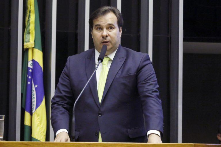 Sessão de inauguração da 2ª Sessão Legislativa Ordinária da 56ª Legislatura. Presidente da Câmara, Rodrigo Maia