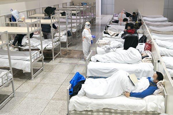 Saúde - doenças - coronavírus gripe contaminação epidemia imunologia imunidade (hospital para pacientes com coronavírus na China)