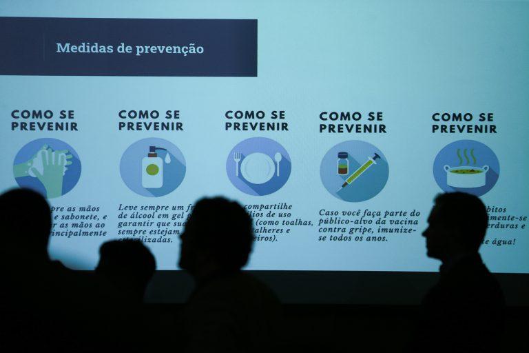 Saúde - doenças - coronavírus covid-19 prevenção epidemia pandemia cuidados (coletiva no Ministério da Saúde em 26/02/20)