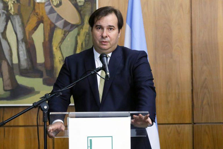 Entrevista coletiva - Visita Oficial do Presidente da Câmara dos Deputados da Argentina. Presidente da Câmara, dep. Rodrigo Maia (DEM - RJ)