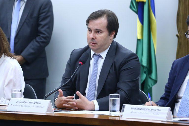 As ações preventivas da vigilância sanitária e possíveis consequências para o Brasil quanto ao enfrentamento da pandemia causada pelo coronavírus. Presidente da Câmara, dep. Rodrigo Maia (DEM-RJ)
