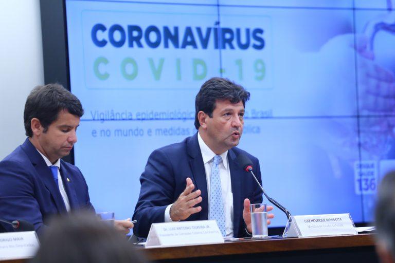 As ações preventivas da vigilância sanitária e possíveis consequências para o Brasil quanto ao enfrentamento da pandemia causada pelo coronavírus. Ministro de Saúde, Luiz Henrique Mandetta