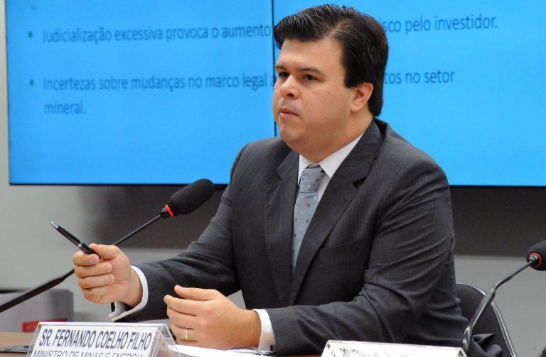 Reunião Ordinária. Ministro das Minas e Energia, Fernando Coelho Filho