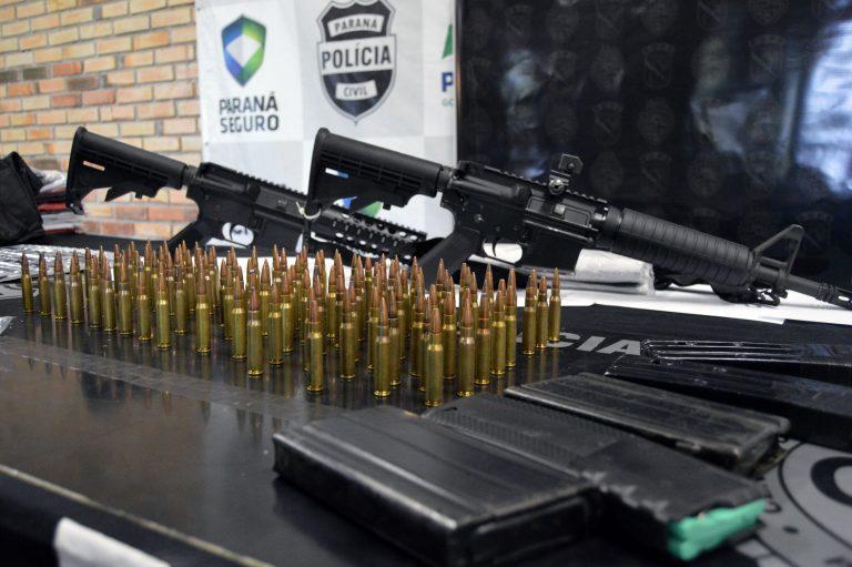 Segurança - armas - metralhadoras munições apreensões polícia tráfico