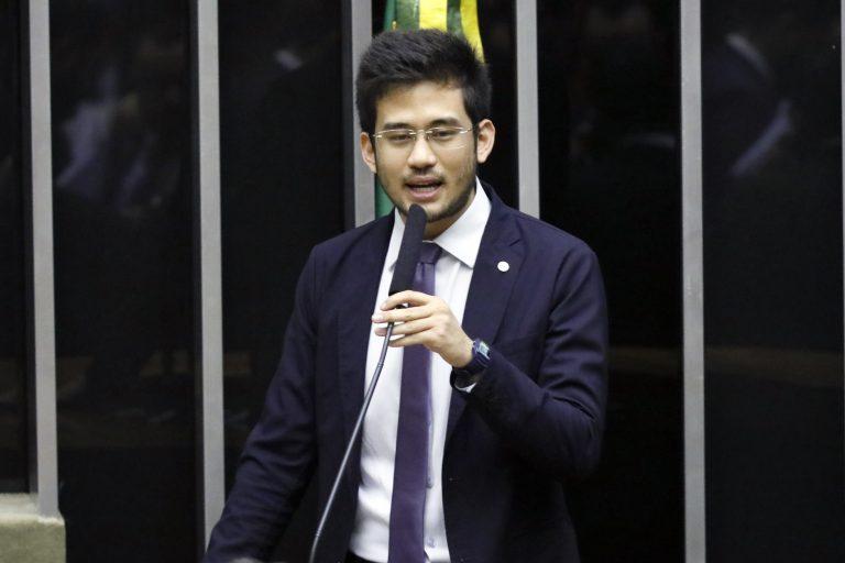 Sessão Congresso Nacional destinada à deliberação dos Projetos de Lei do Congresso Nacional nºs 22 (PLOA) e 33 de 2019. Dep. Kim Kataguiri (DEM-SP)