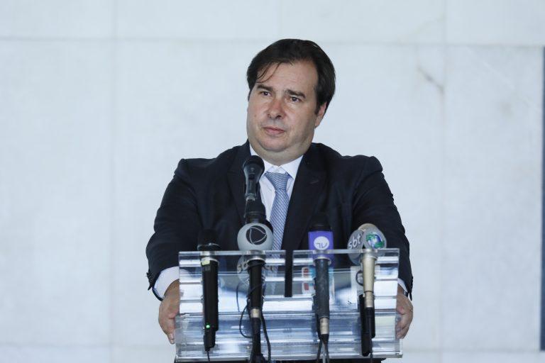 Presidente da Câmara dos Deptuados, dep. Rodrigo Maia, concede entrevista coletiva sobre a atividade legislativa durante a crise causada pelo coronavírus