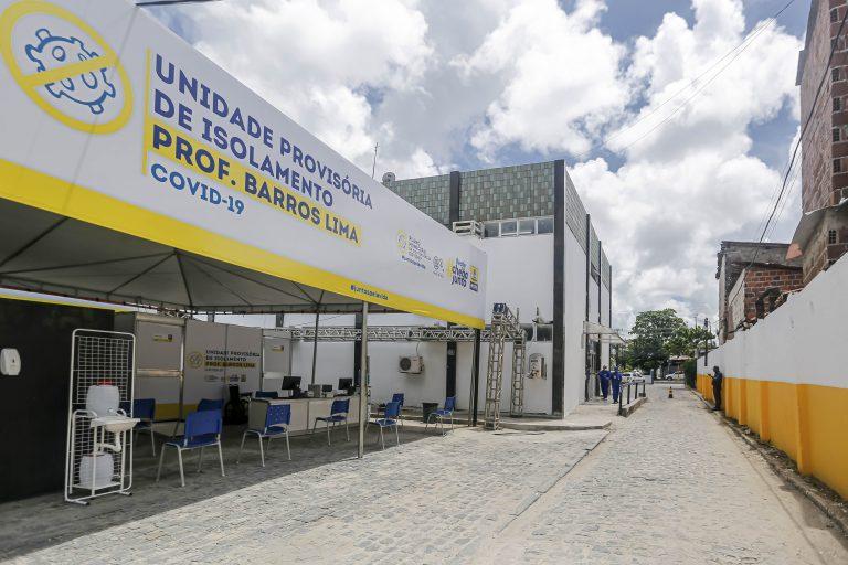 Saúde - doenças - coronavírus pandemia epidemia (Unidade provisória de isolamento Prof. Barros Lima, criada pela prefeitura de Recife, com 42 leitos exclusivos para pacientes com a Covid-19)
