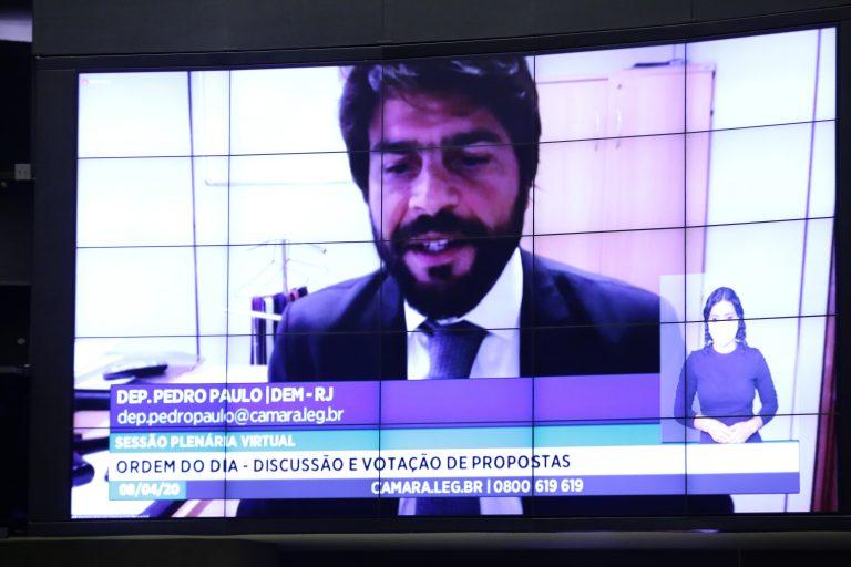 Ordem do dia para votação de propostas legislativas. Dep. Pedro Paulo (DEM - RJ)