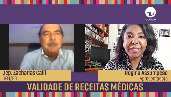 Zacharias Calil defende aumento do prazo de validade de receitas médicas