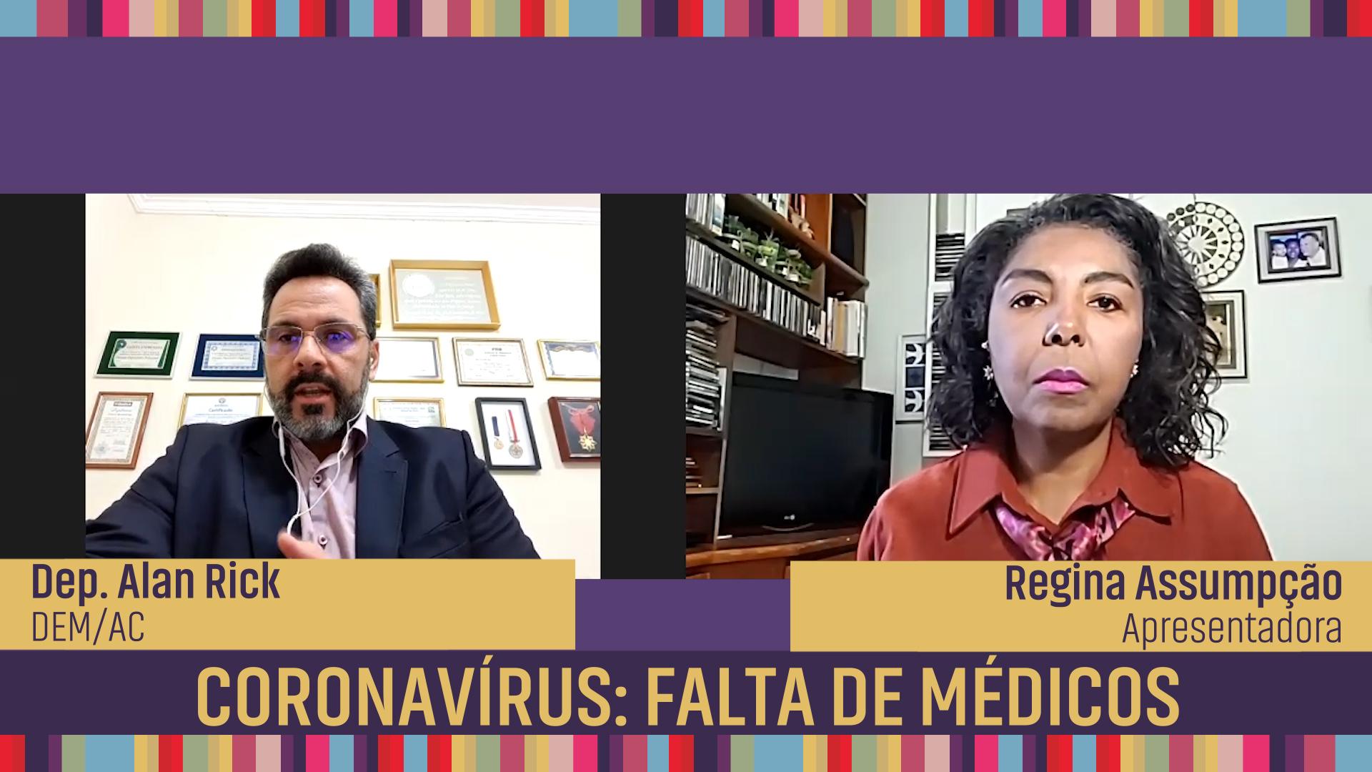 Coronavírus: falta de médicos