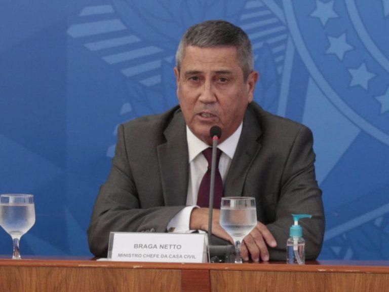 Autoridades - ministro da Casa Civil Walter Braga Netto