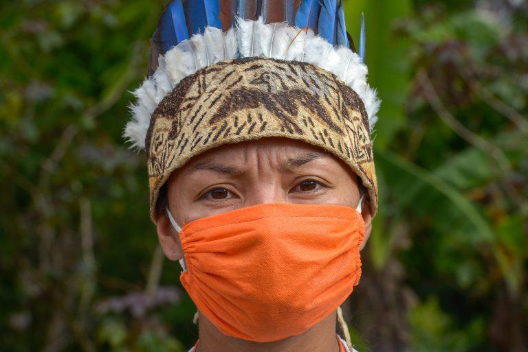 Saúde - doenças - coronavírus Covid-19 pandemia índios indígenas máscaras