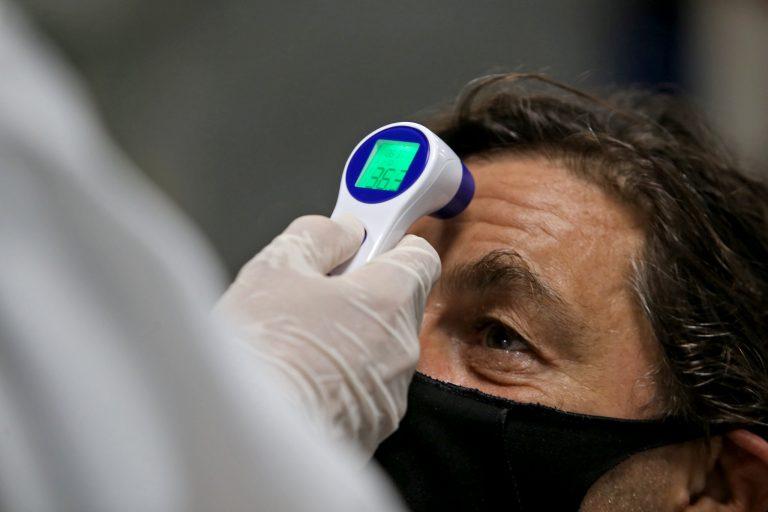 Saúde - doenças - coronavírus Covid-19 pandemia medição temperatura máscara cuidados prevenção contágio contaminação febre sintomas