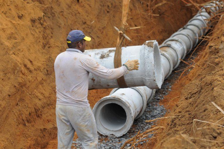 Cidades - infraestrutura - obras públicas drenagem saneamento básico águas pluviais