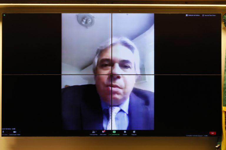 Reunião Técnica por videoconferência - Hospitais, Clínicas e Consultórios. Presidente da Associação Médica Brasileira - AMB, Lincoln Lopes Ferreira