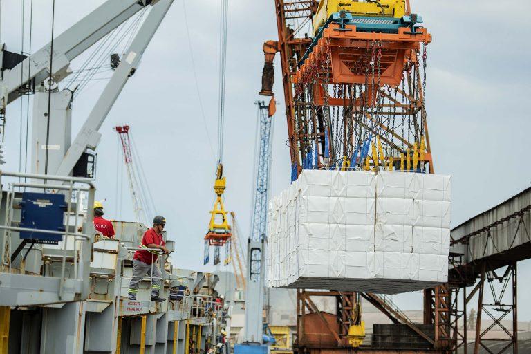 Economia - indústria e comércio - exportações importações comércio exterior mercadorias logística portos trabalhadores estivadores (Porto de Paranaguá-PR)