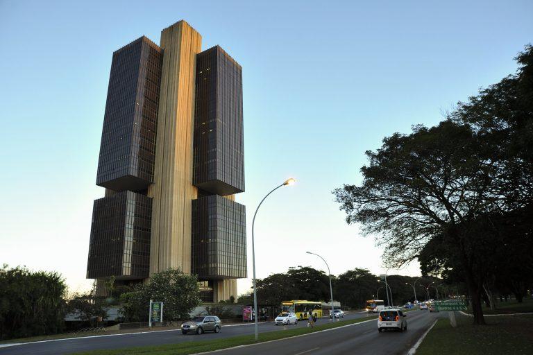 Fachada do edifício-sede do Banco Central em Brasília