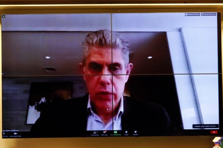Reunião Técnica por videoconferência - Desenvolvimento de Vacina pela Universidade de Oxford. Diretor Executivo de Relações Corporativas, Regulatório e Acesso ao Mercado da AstraZeneca Brasil, Jorge Mazzei