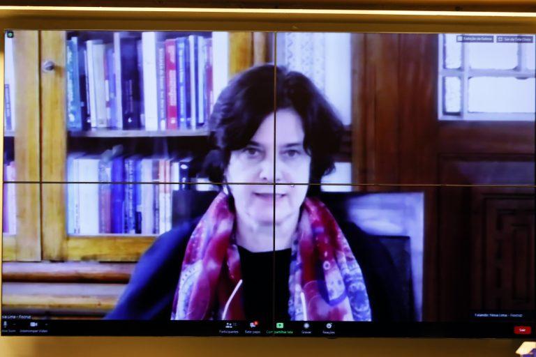 Reunião Técnica por videoconferência – Desenvolvimento de Vacina pela Universidade de Oxford. Presidente da Fundação Oswaldo Cruz - Fiocruz, Nísia Trindade Lima