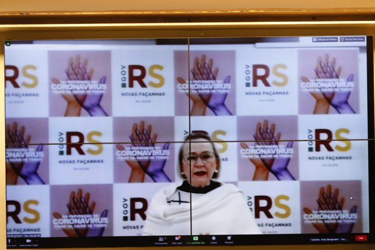 57ª Reunião Técnica por Videoconferência - A Situação no Estado do Rio Grande do Sul. Secretária Estadual de Saúde - RS, Arita Bergmann