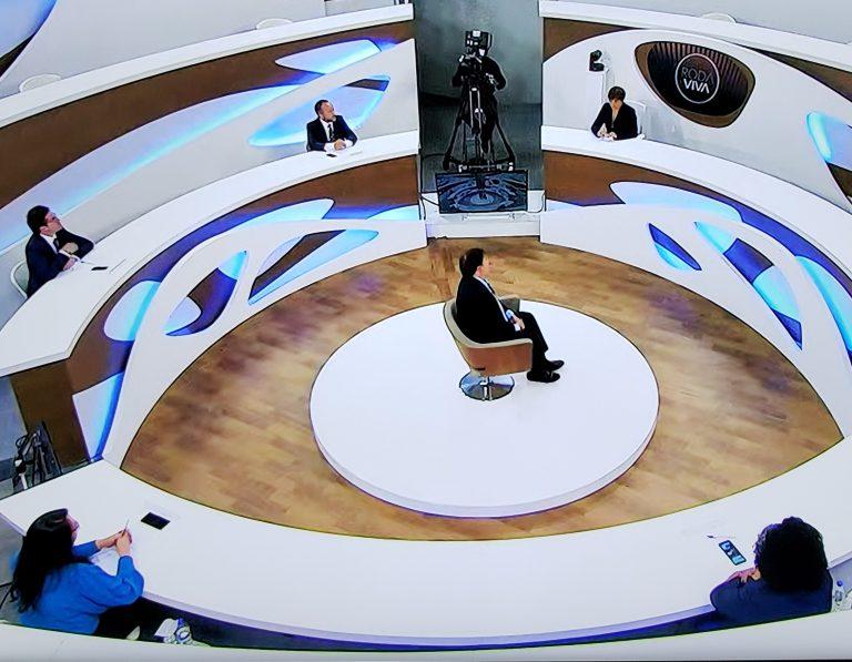 Presidente da Câmara, Rodrigo Maia, em entrevista ao programa Roda Viva
