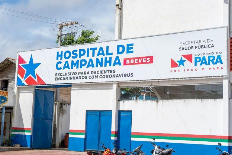 Hospital de campanha em Breves, no Pará