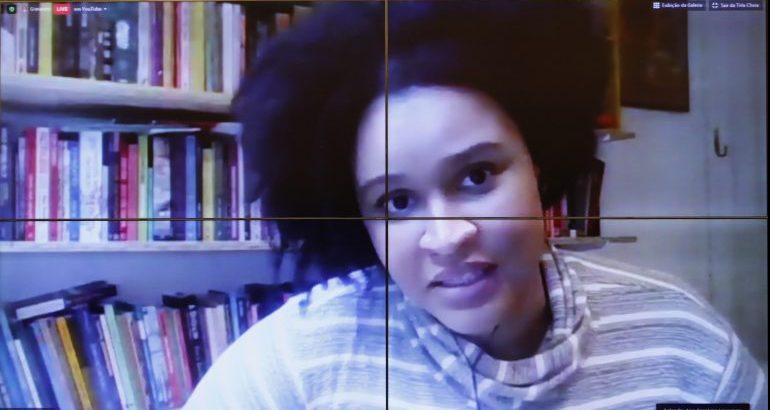 Discussão de propostas para incluir mulheres na resposta à crise da COVID-19. Convidada Mulheres Negras Decidem, Ana Carolina Lourenço