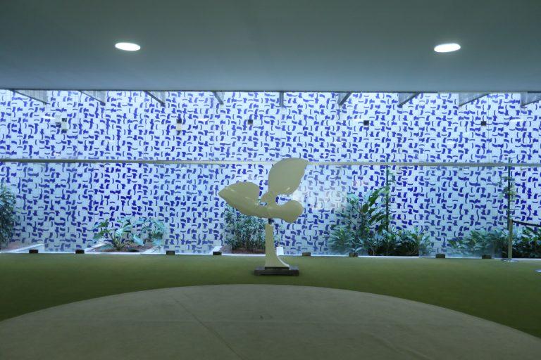 Cultura - Artes Plásticas - Painel Ventania - Salão Verde da Câmara - Athos Bulcão