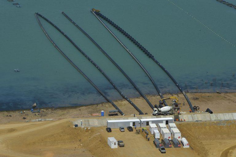 Baixo nível da hidrelétrica de Sobradinho (BA) em 2017