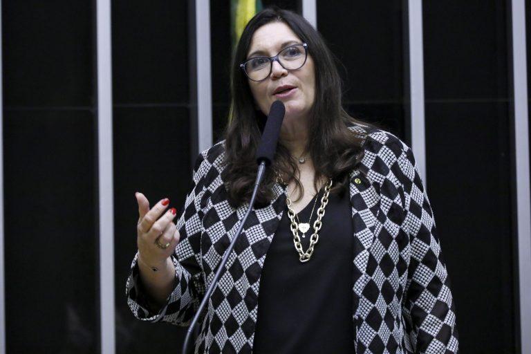 Deputada Bia Kicis discursa no Plenário da Câmara