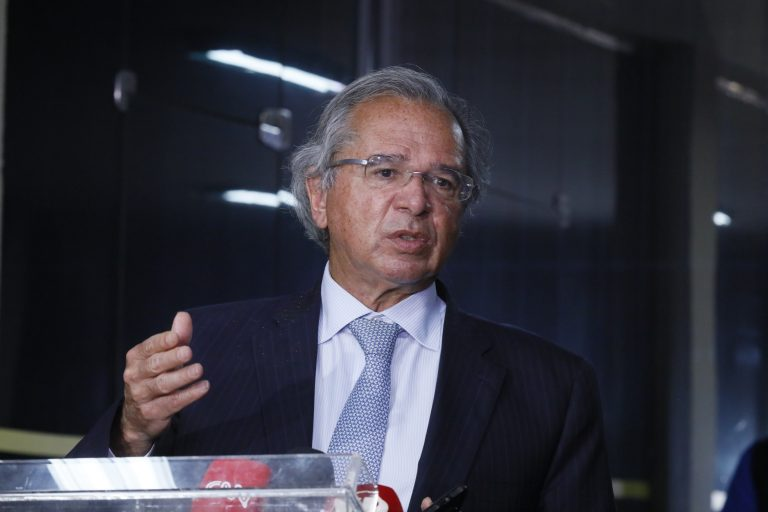 Entrevista coletiva no Ministério da Economia. Ministro da Economia, Paulo Guedes