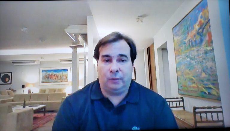 Presidente da Câmara, Rodrigo Maia, em live da Federação das Associações dos Municípios do RS (Famurs)