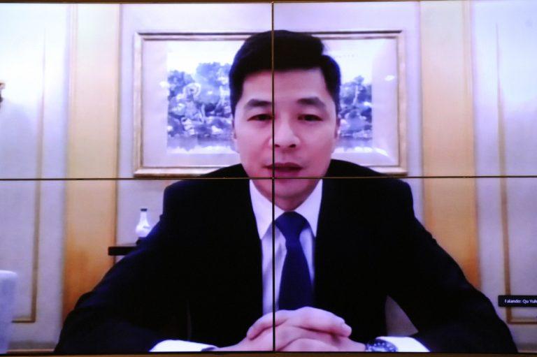 Olhar Internacional: Vacinas contra a COVID-19. Ministro Conselheiro, Sr. Qu Yuhui