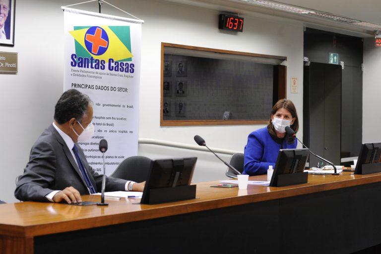 Reunião Virtual da Frente Parlamentar das Santas Casa. Dep. Antonio Brito (PSD - BA) e dep. Carmen Zanotto (CIDADANIA - SC)
