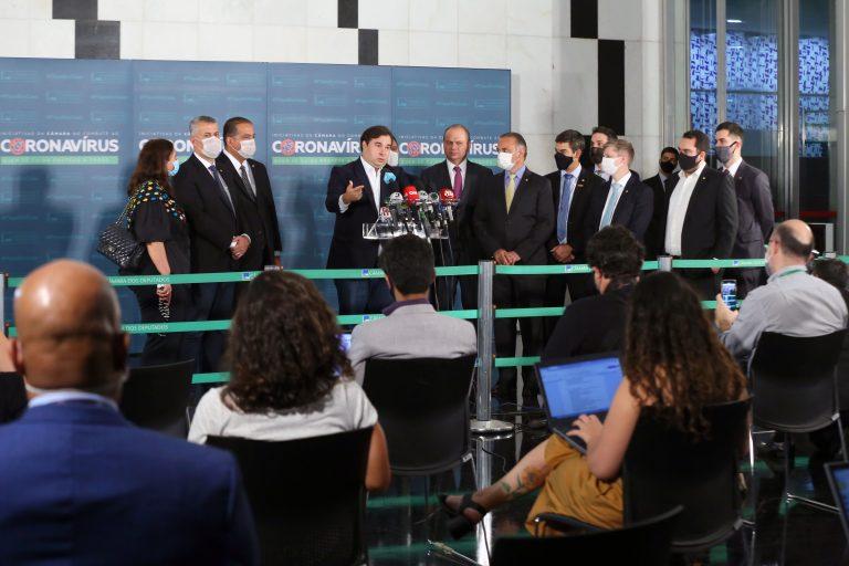 Cerimônia de Entrega da PEC da Reforma Administrativa. Presidente da Câmara dos Deputados, dep. Rodrigo Maia