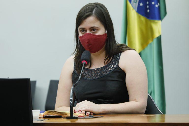 Encontro entre parlamentares e entregadores de aplicativo. Dep. Sâmia Bomfim (PSOL - SP)