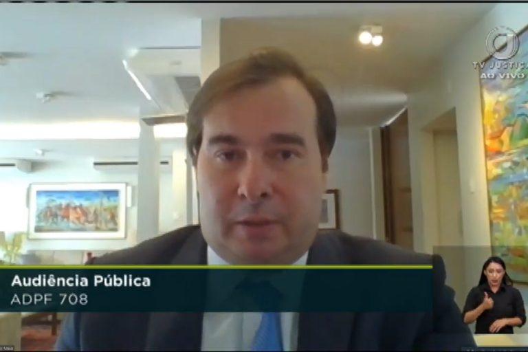 Deputado Rodrigo Maia participa de videoconferência